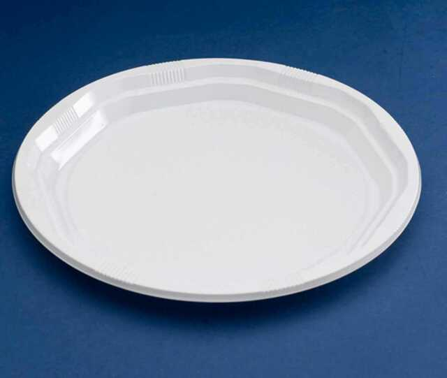 50 x White 10\  Strong Plastic Party Plates & 50 X White 10\
