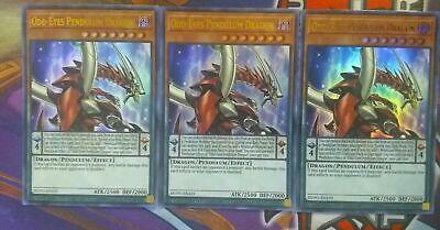 3x Beast-Eyes Pendulum Dragon JUMP-EN074 Ultra Rare YUGIOH PLAYSET FAST SHIPPING