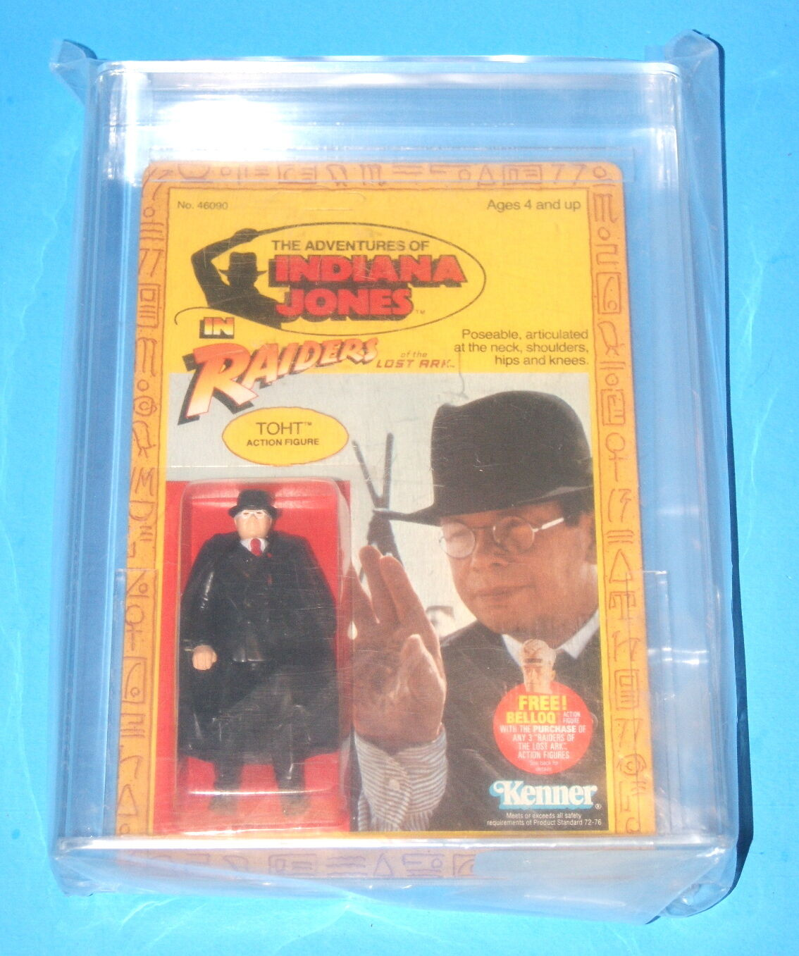 Indiana Jones Kenner rojola Toht Afa 85 Inverdeiti P.O.P.Trasparente Bolla