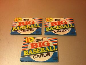 Details About Topps 1988 Big Baseball Cards 1st Series 7 Card Pack New Lot Of 3