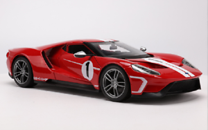 Maisto-1-18-2017-Ford-GT-Concept-Diecast-Model-Sports-Racing-Car-Red-NEW-IN-BOX