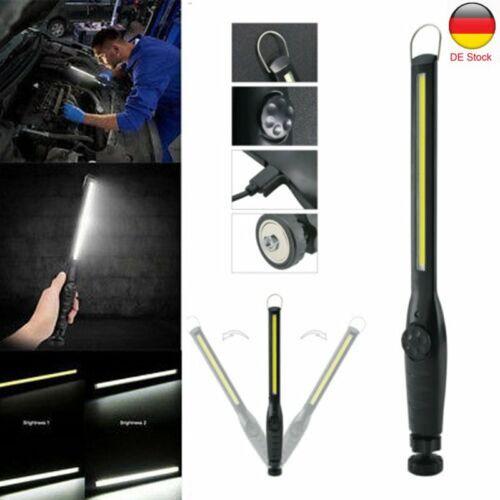 LED KFZ AKKU Arbeitsleuchte Werkstattleuchte USB Stablampe Magnet Handlampe DE