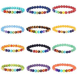 7-Chakra-Healing-Beaded-Bracelet-Lava-8MM-Stone-Beaded-Diffuser-Bracelet-Jewelry