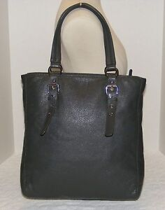 3f609b094470 Image is loading AUTHENTIC-MICHAEL-KORS-GRAY-SLATE-PEBBLED-LEATHER-LARGE-