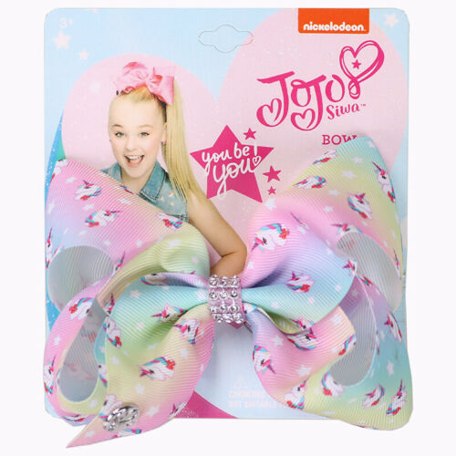 "NEW 5/""Cute JoJo Siwa Wee Unicorn Hair Bow With Alligator Clip Girl Kids Bowknot"