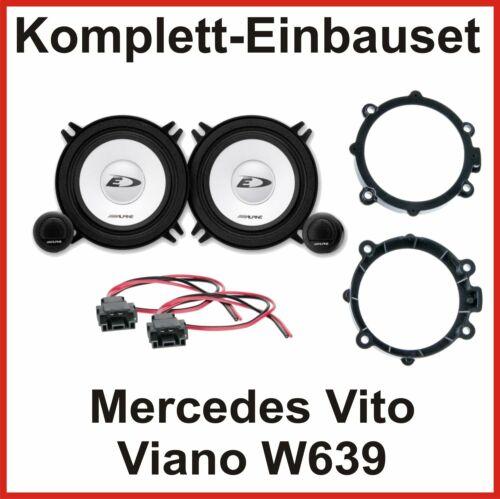 Altavoces set Mercedes Vito Viano w639 sxe-1350s 2 vías sistema componentes delante
