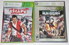 XBox 360 Game Lot - Deadrising (New) Escape Dead Island (New)
