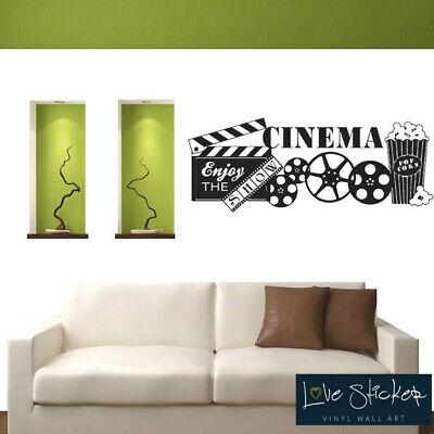 Wall Stickers Home CINEMA POPCORN Film Citation Art Décalcomanie Vinyle Décor Chambre Maison