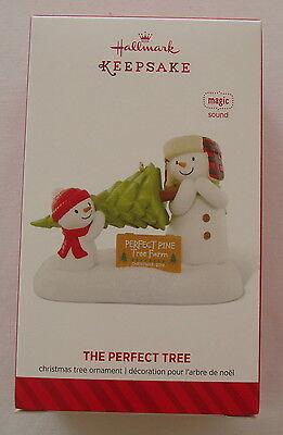 Hallmark 2014 The Perfect Tree Snowman NOT PLUSH Magic Christmas Ornament