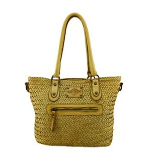 Bayside borsa shopper due manici in pelle vintage made in Italy Bs 283 mini