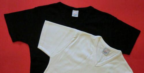 Ladies 2pk V-neck Fitted Plain T-shirt 100/%Cotton White+Black Women S and M