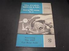 1957 Ford Mechanic Servicing Car Rear Axle Owners Handbook Forum Book Manual