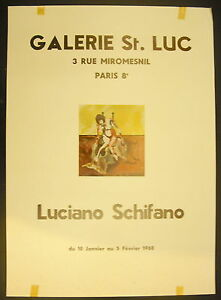 Poster Exhibition Luciano Schifano Gallery Saint Luc 10 January 1968 Miromesnil