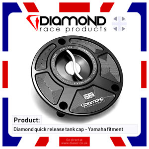 DIAMOND RACE PRODUCTS YAMAHA QUICK RELEASE TANK FUEL CAP FOR YZF R6 2008 2009