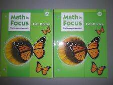 Math in Focus, Grade 3, Extra Practice Books for Both 3A & 3B - Set of 2 Books