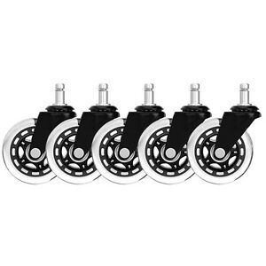 Set-of-5-Office-Chair-Caster-Rubber-Swivel-Wheels-Replacement-Heavy-Duty-3-inch
