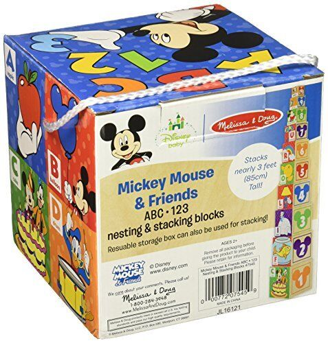 Melissa & Doug Mickey Mouse & Friends Nesting & Stacking Blocks B...