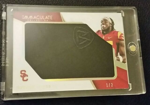 1 2 Ronald Jones Rookie Draft Hat Cap 2018 Panini Immaculate USC Tampa Bay 60c874dde