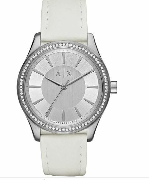 NIB* Beautifully Elegant Armani Exchange watch w/ leather band/ Model: AX 5445