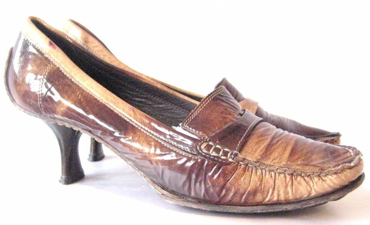 Goffredo Fantini Pumps Heels shoes Brown oxford shoes slides  37.5 US 7.5