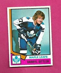 1974-75-OPC-40-LEAFS-DARRYL-SITTLER-EX-CARD-INV-D2249