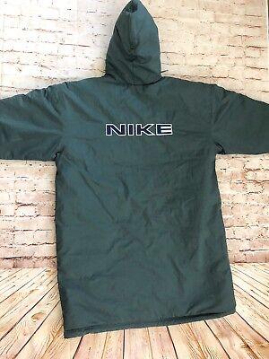 b500f61020d9 Vintage Nike Men s Puffer Parka Jacket Logo sz XXL Full zip Green Nylon  Hooded