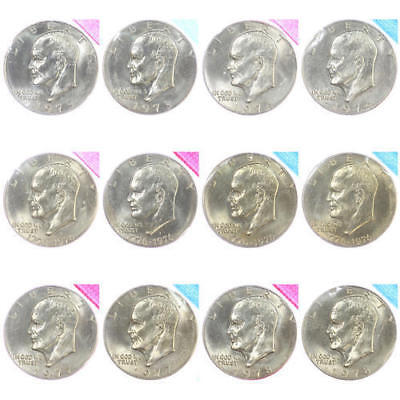 1978 P D Eisenhower Brilliant Uncirculated Dollars US Mint Cello 2 Coin Ike Set