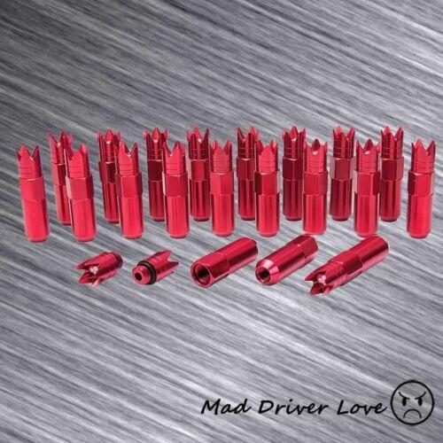 RED 84MM CROWN 20PC HARDENED ALUM ALLOY LUG NUT M12X1.5mm TOYOTA ACURA HONDA