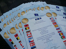 ORIGINAL NATO  ISAF MEDAL CERTIFICATE - PRE 2011 -  RARE