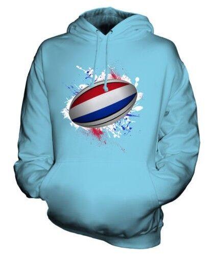 Pays-Bas Ballon de Rugby Éclaboussures Sweat à Capuche Unisexe Haut Cadeau