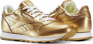 Dettagli su Scarpa REEBOK LEATHER METALLIC CLASSIC ORO bambino bambina sneakers ginnastica