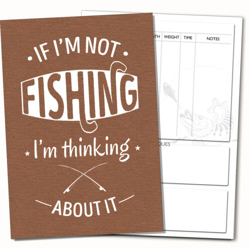FISHING DIARY-Log Book:Fishing Diary Log Book,Anglers Journal+FREE PLASTIC COVER