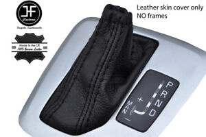 BLACK STITCH TOP GRAIN LEATHER AUTO AUTOMATIC GEAR COVER FOR VOLVO XC90 02-14