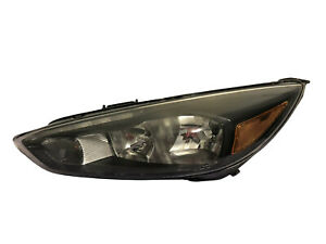 2015-2018 Ford Focus Halogen Black Trim Headlight LH Side Head Lamp LED