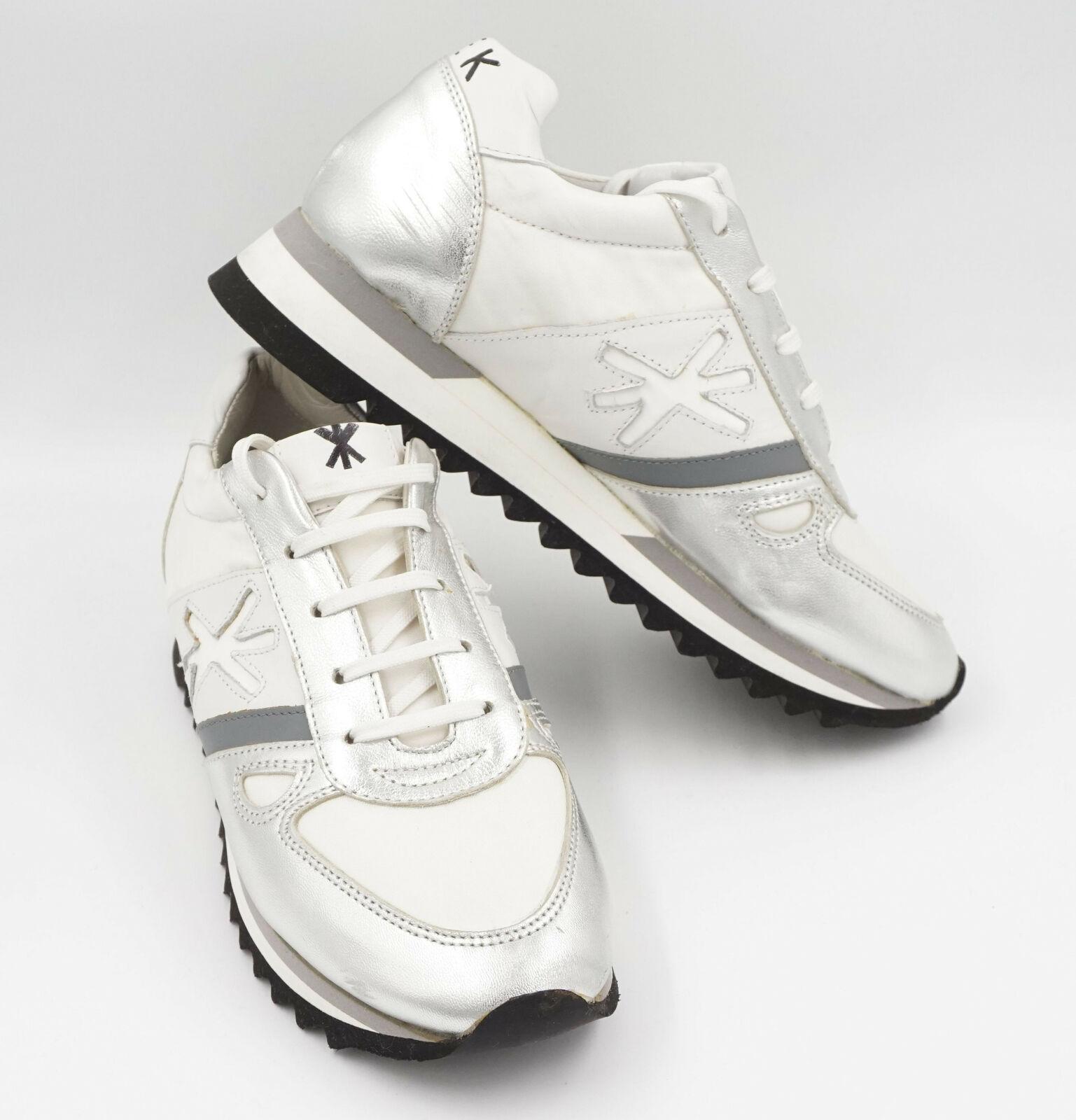 Kroll sneaker femmes taille 37 blanc argent cuir