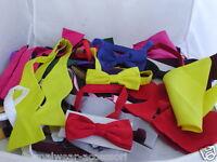 Any  Pre-tied OR Self-tie Bow tie + Cummerbund and Hankie Set P&P 2UK 1st Class