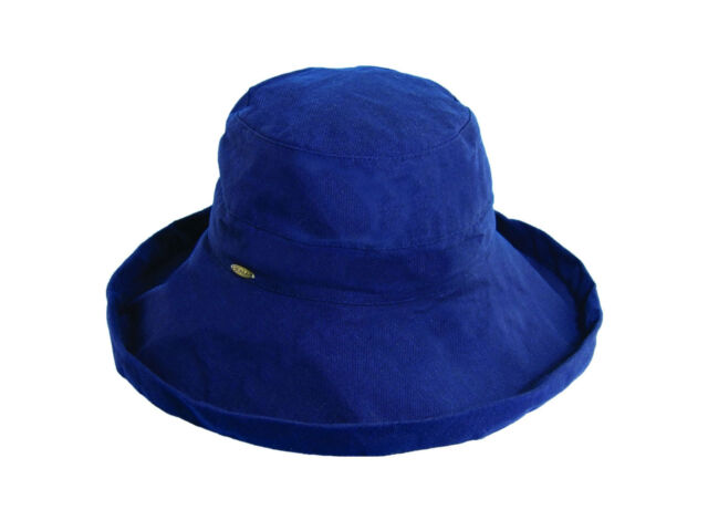 9ddb9d37 Scala Womens Cotton 4 Inch Brim UPF 50 Travel Sun Hat Navy for sale ...