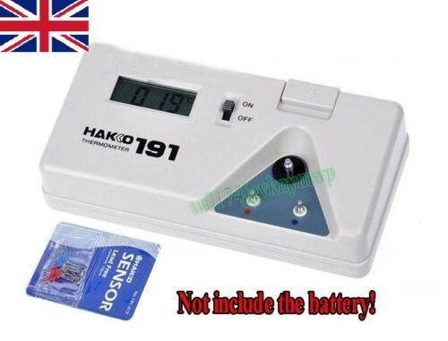 10pcs Capteurs DC 9 V HAKKO 191 Astuce Thermomètre Solder Iron Tip Digital Testeur