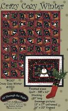 CRAZY COZY WINTER QUILT QUILTING PATTERN, From All Through The Night NEW