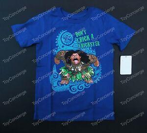 06a07214 DISNEY Store TEE for Boys MAUI Don't Trick a Trickster MOANA TShirt ...