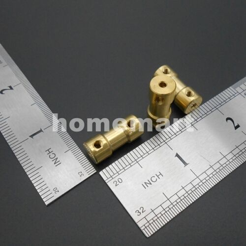 10PCS 3-4 Brass Shaft Motor Flexible Coupling Coupler L:20mm 3MM TO 4MM Wrench