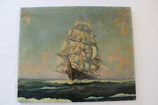Antique Clipper Ship Painting
