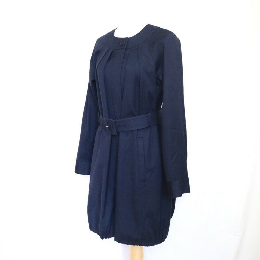 THEORY Women's Navy Blue Idola Connect Trench Coa… - image 6