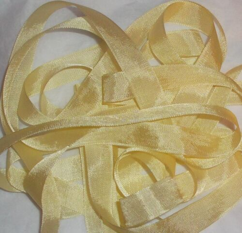 """RAYON LT Yellow ribbon VINTAGE style 1//2/""""  X 5 YARDS perfect for DOLL CLOTHES"""
