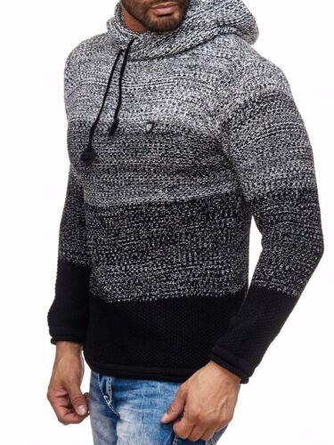 Carisma Kapuzen Strick Pullover Herren Knit Hoodie Pulli Sweat Cardigan 7396
