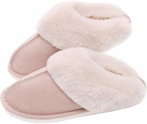 SOSUSHOE Womens Slippers Memory Foam Fluffy Fur Soft Slippers Warm House Shoes I