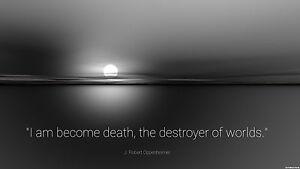 Oppenheimer Quote | Framed Print Robert Oppenheimer Quote Death Destroyer Of