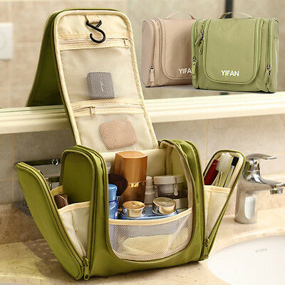 New Travel Toiletry Wash Cosmetic Bag Makeup Storage Case Hanging Grooming 97B9M