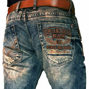 CIPO-amp-BAXX-ROCHESTER-JEANS-DENIM-STRAIGHT-CUT-ALL-SIZES