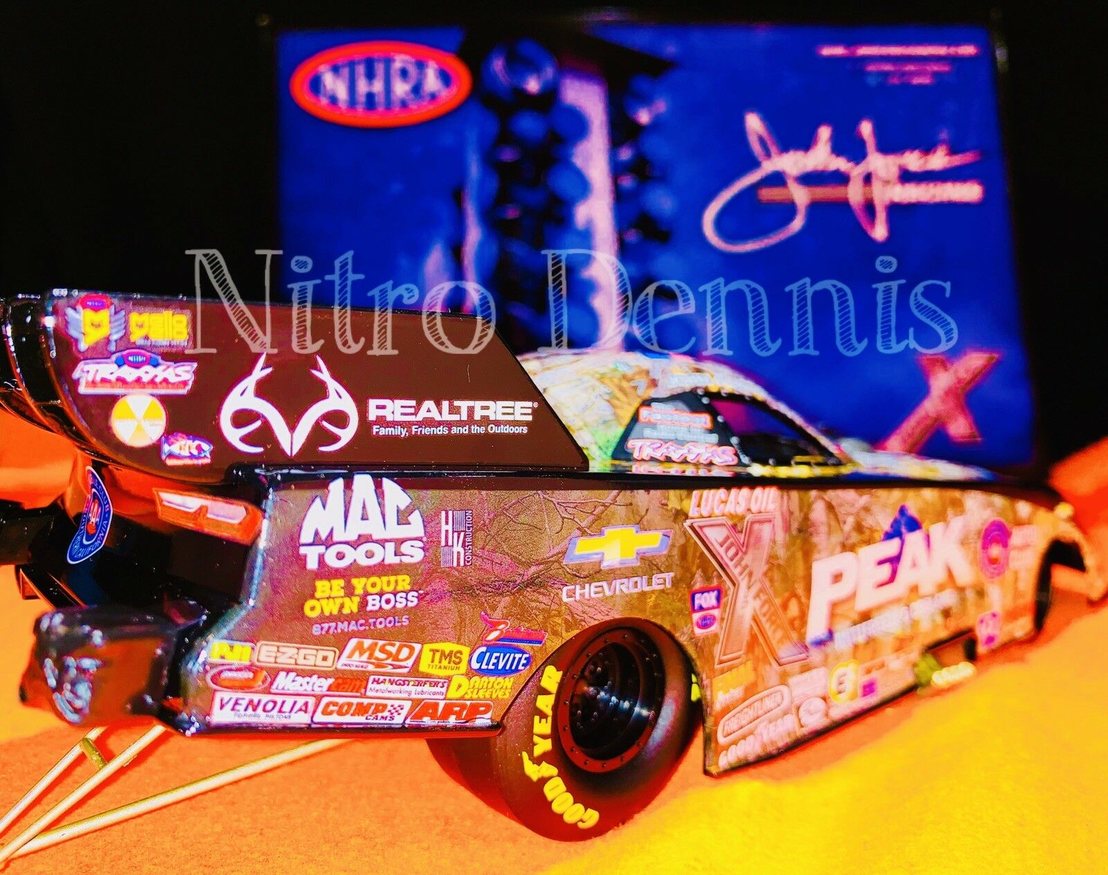 NHRA JOHN FORCE 1 24 Diecast PEAK Funny Car NITRO 16 ACTION Drag Racing REALTREE